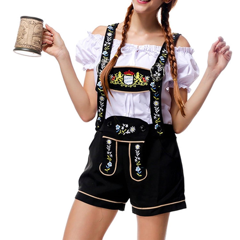KAGU CULTURE Oktoberfest Damen Dirndl Set - Trachtenhose, Bluse