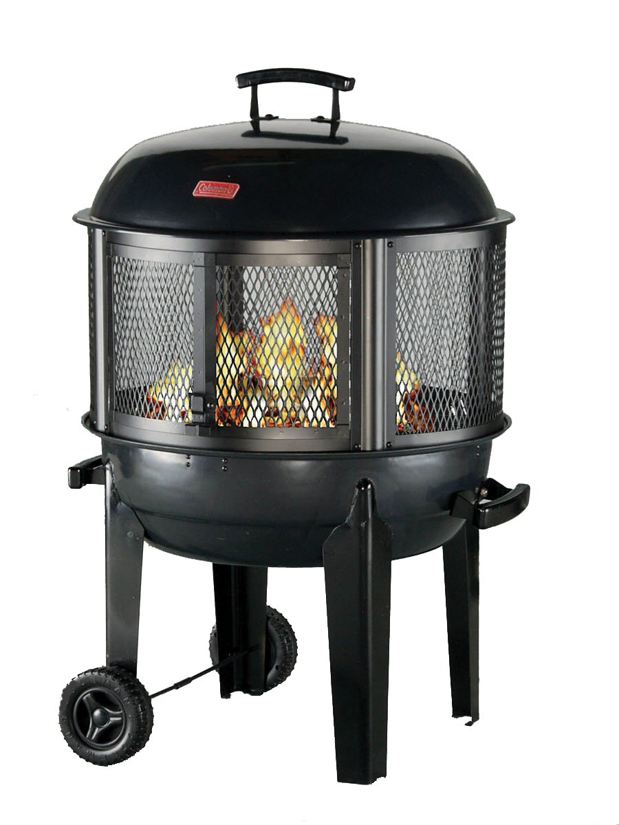 amazon com coleman round fireplace with wheels sports u0026 outdoors