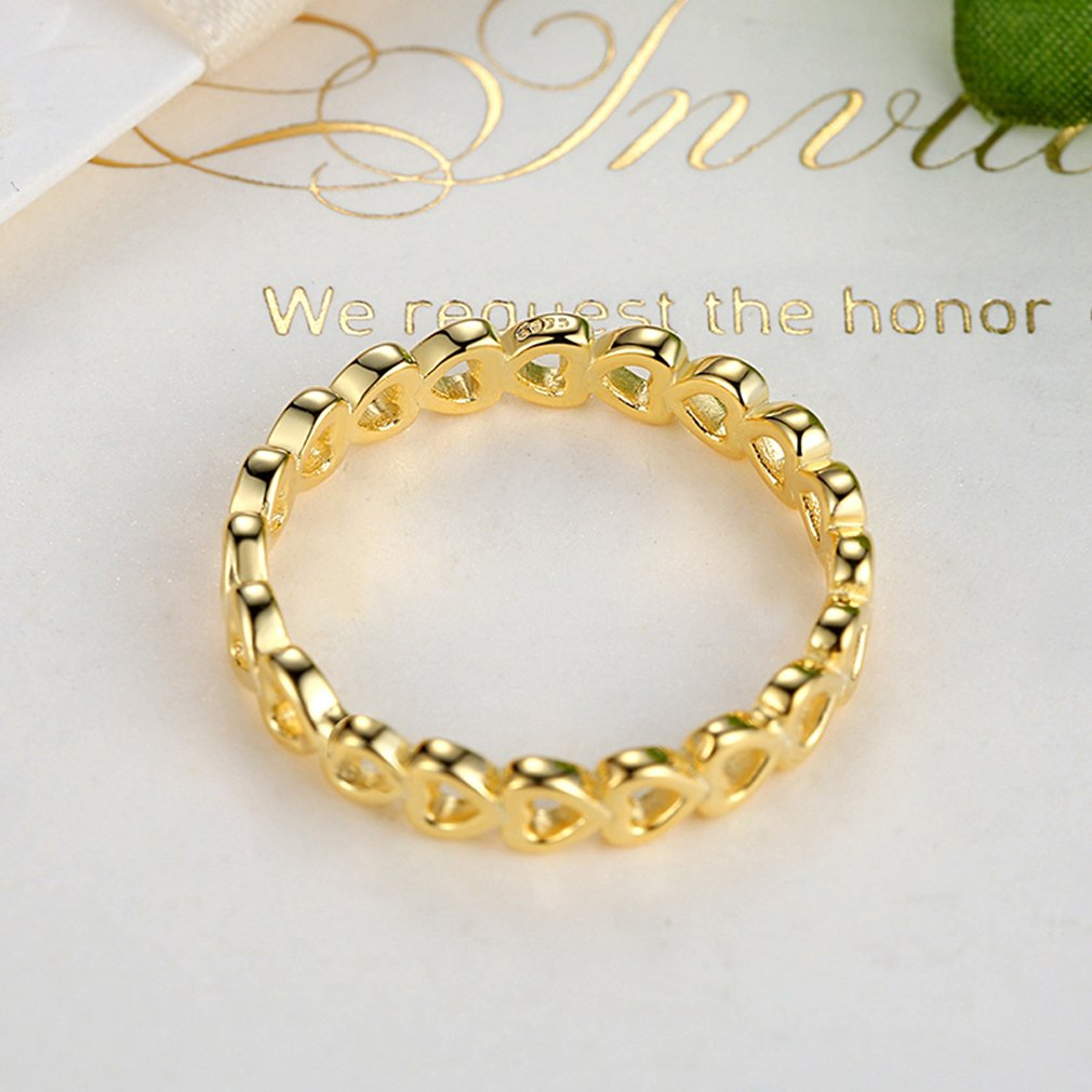 Everbling Linked Love 925 Sterling Silver Stackable Ring by Everbling (Image #4)