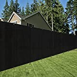 OriginA 8x25ft Black Fence Privacy Screen with Zip Ties & Grommets/Shade Cloth/Shade Fence/Commercial Backyard Fence