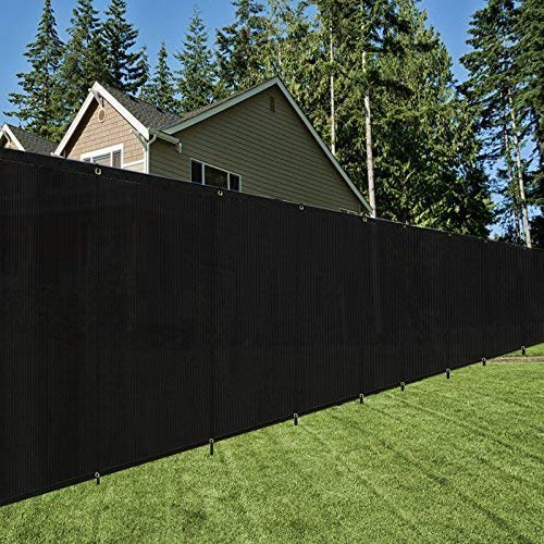 OriginA 8x25ft Black Fence Privacy Screen with Zip Ties & Grommets/Shade Cloth/Shade Fence/Commercial Backyard Fence by OriginA