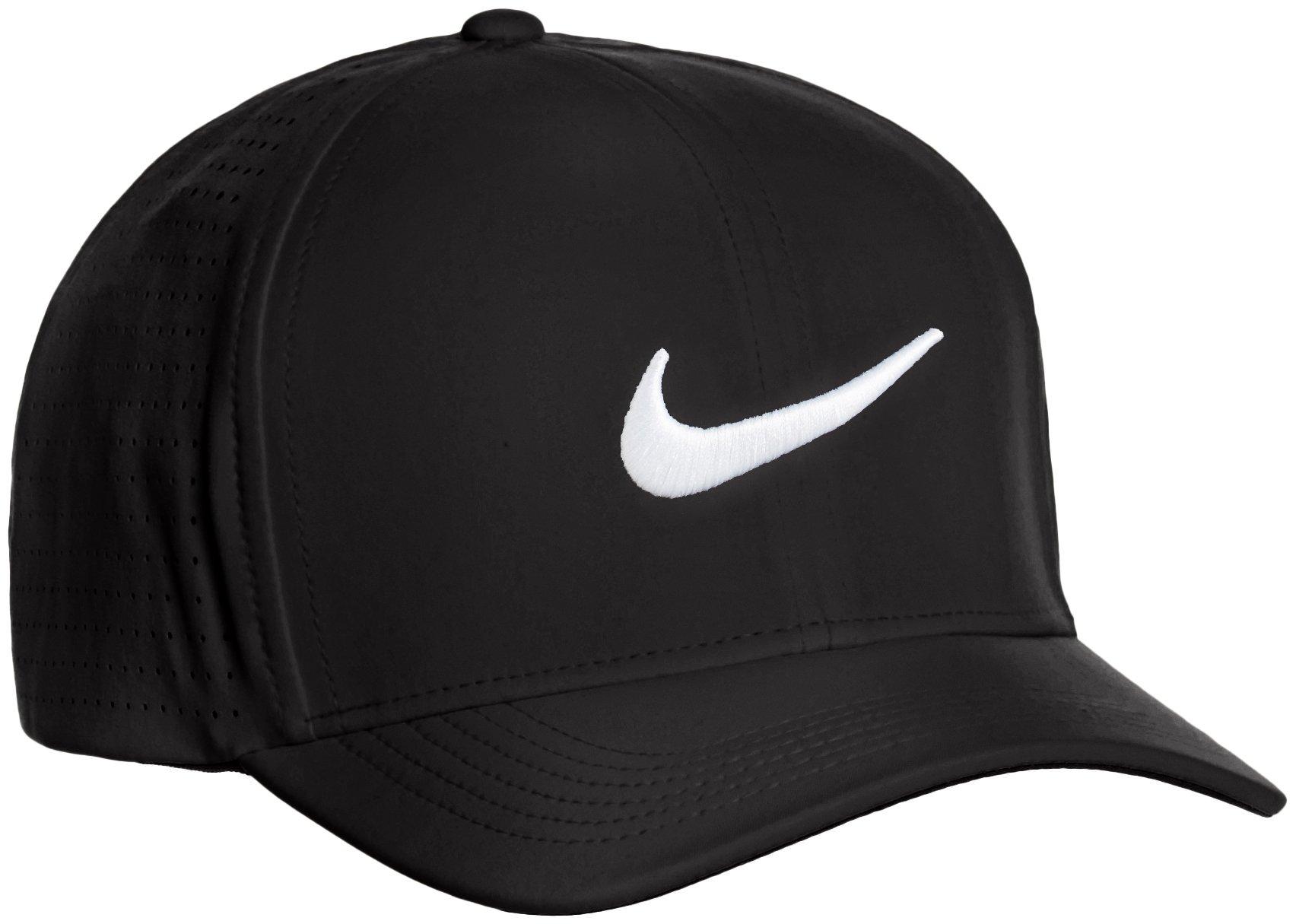 7792a1ca6f522 Nike Men's Classic 99 Fitted Golf Hat, Black, Small/Medium