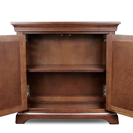 Svitlife Traditional Foyer Cabinet Hall Stand With Adjustable Shelf Bookcase Storage Wood Book