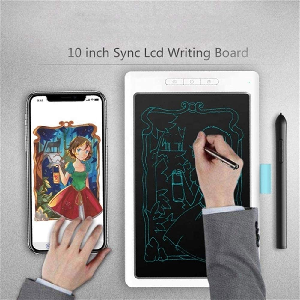 QLPP 10 inch LCD Writing Tablet Connection with Bluetooth USB,Electronic Drawing Board Doodle Board,Gift for Kids and Adults at Home,School and Office