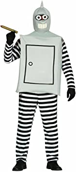 Amakando Ropa Bender Disfraz de Robot L 52/54 Atuendo robótica ...