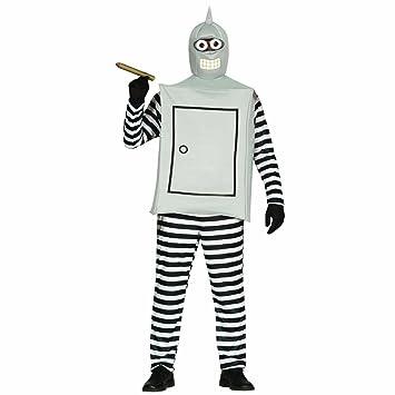 NET TOYS Disfraz de Robot Ropa Bender L 52/54 Traje Hombre ...