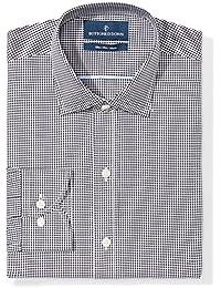 Men's Slim Fit Gingham & Stripe Non-Iron Dress Shirt