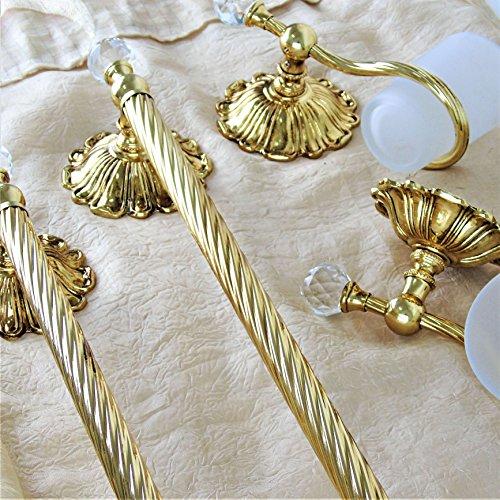 Accessori Bagno Ottone Oro.Le Chic Set Bagno Kit Accessori Italiani Oro Barocco Dorati