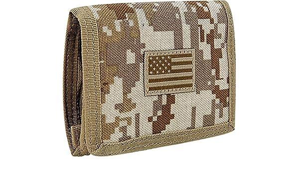 RapDom Mens Tri-Fold Wallet Tactical Military Tonal USA Flag Choose Color