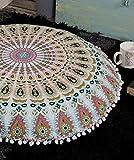 Popular Handicrafts Large Ombre Mandala Round Hippie Floor Pillow - Cushion - Pouf Cover Bohemian Yoga Decor Floor Cushion Case - 32'' Multicolor