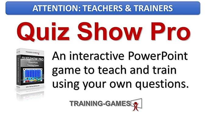 amazon com quiz show pro a jeopardy style teaching and training