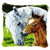 Latch Hook Cushion Kit: Horse & Foal