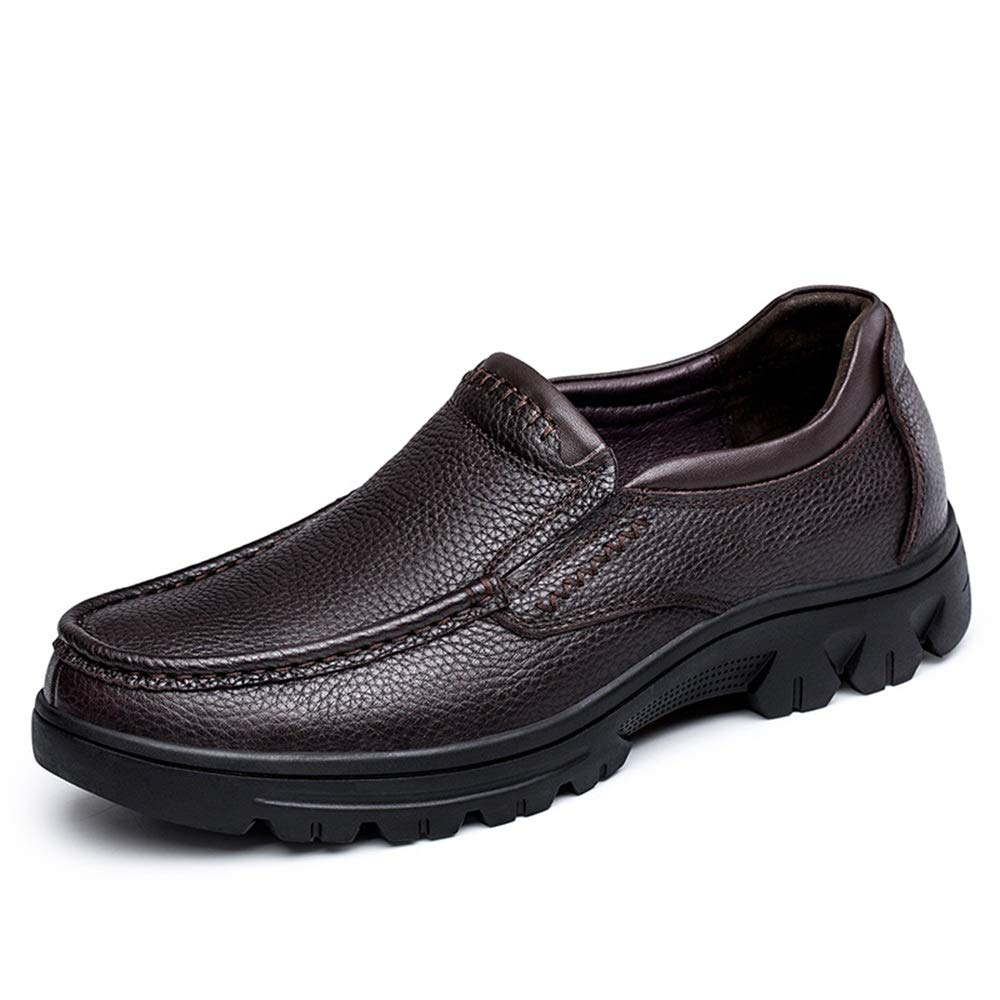 Marron Chaussures pour hommes Oxford Casual Classic Classic Outsole simple et flexible en polaire à l'intérieur des chaussures de grande taille ,Chaussures de cricket ( Couleur   Marron , Taille   45 EU ) 37 EU