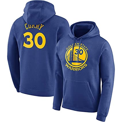 Golden State Warriors Stephen Curry #30 Sudadera con capucha Hombres Jóvenes Name & Number Deportes