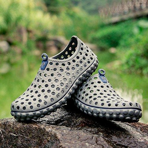 Blankey Hommes Séchage Rapide Aqua Chaussures Sports De Plein Air Chaussures De Leau Pour La Plage De Surf Leau Exercice Gris