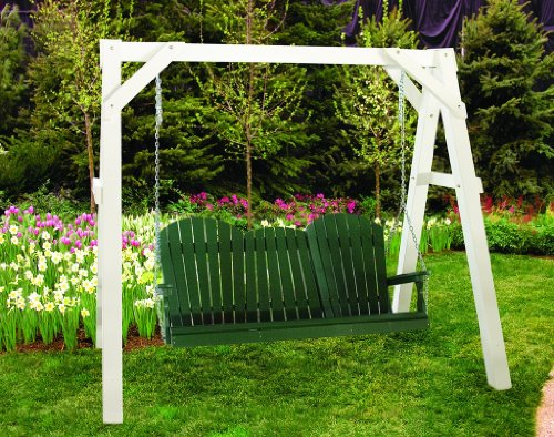 outdoor-vinyl-white-a-frame-porch-swing-stand