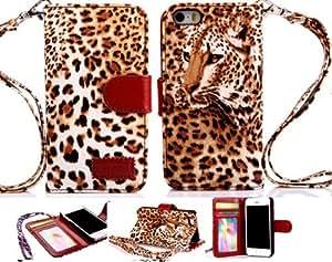 iPhone 4 leather case, iPhone 4 case,Gotida iPhone 4 Leopard case, iPhone 4s Leather case, iPhone 4 Leopard leather case, Leopard case for iPhone 4