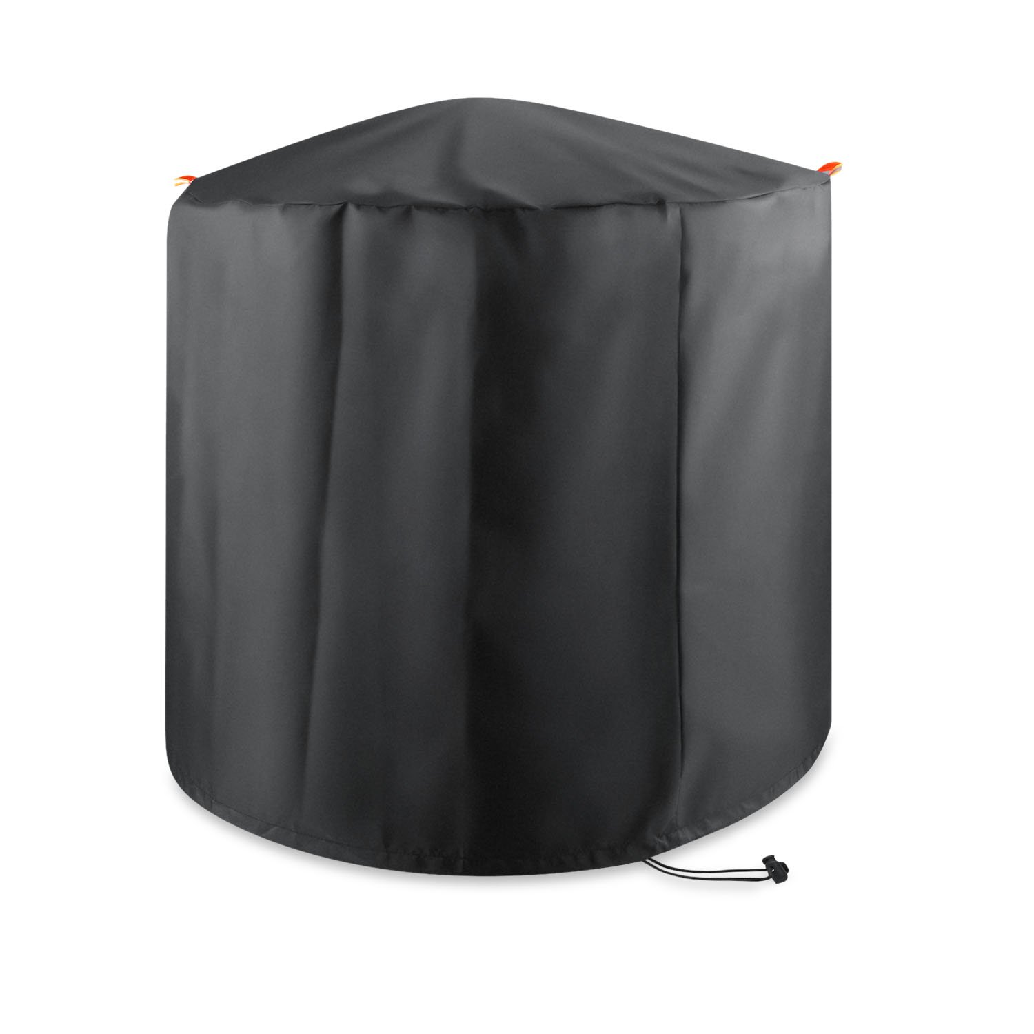 Barbecue Cover, GoFriend Round BBQ Cover Heavy Duty Waterproof BBQ Grill Cover 210D Breathable Oxford fabric Indoor Outdoor Rain Dust Protection with Storage Bag (80x59cm)