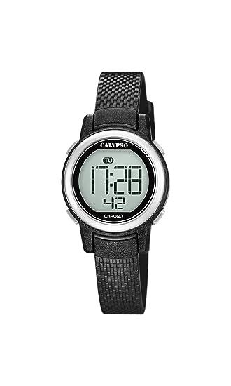 Calypso Reloj Digital para Mujer de Cuarzo con Correa en Plástico K5736/3: Amazon.es: Relojes