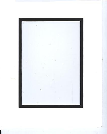Amazon.com: 20x24 White & Black Double Picture Mats Bevel Cut for ...