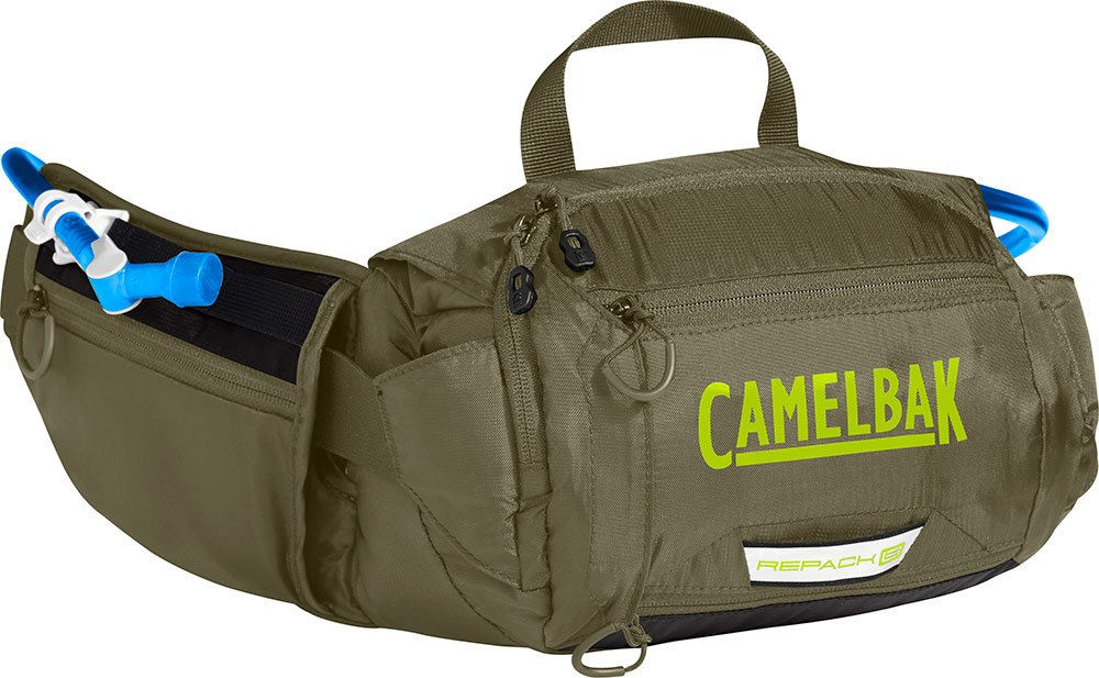 CamelBak Repack LR 4–Mochila de hidratación, Burnt Oliva/Lime Punch, 50oz CAOHJ #Camelbak 1478302000