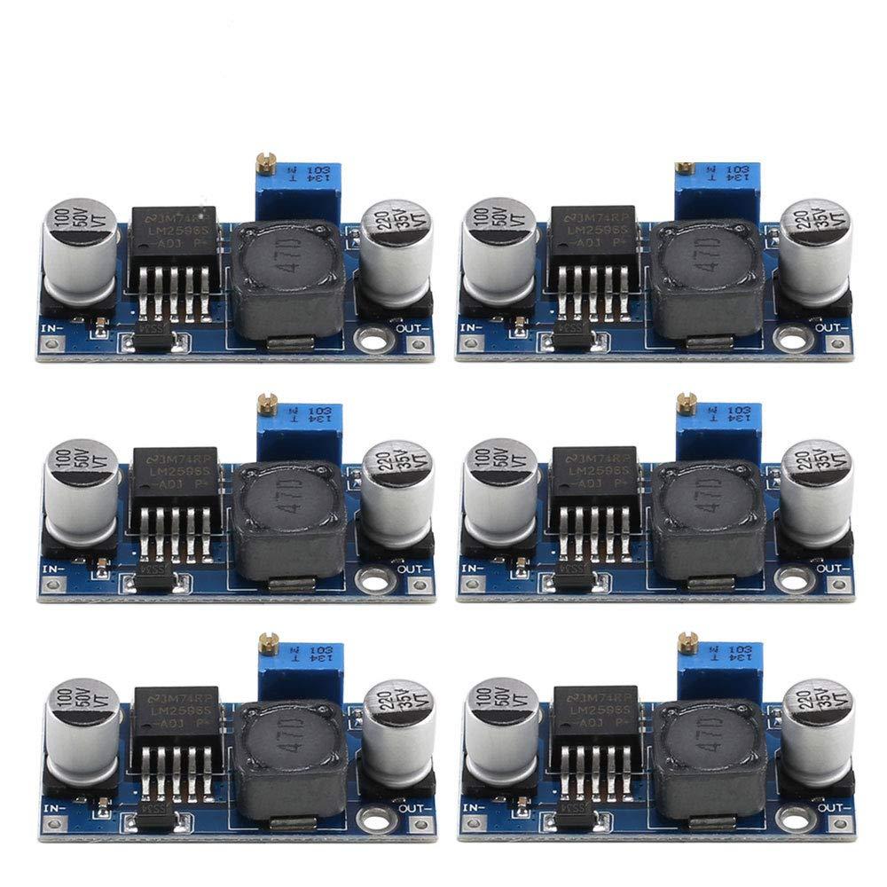 LM2596 Dc-Dc Buck Converter ManYee 6 Pack Input 3.2V-40V Output 1.25V-35V Dc Step Down Module Adjustable Buck Voltage Converter Power Supply Step Down Module