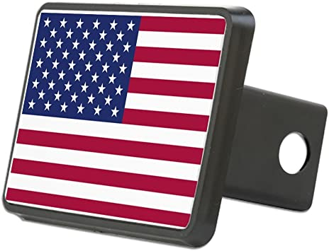 "USA US American Flag Trailer Hitch Cover tube Plug Insert Fits 2/"" Receivers"