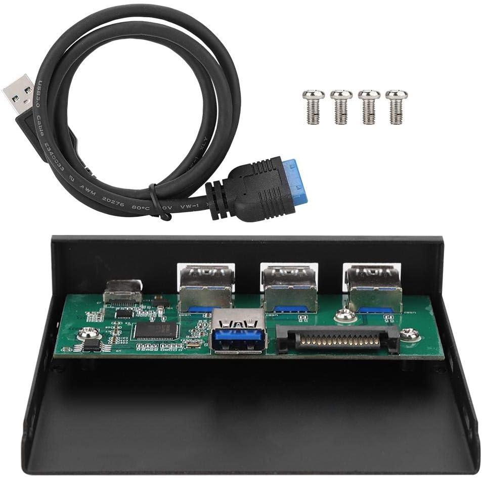 1 Port USB3.1 3 Ports USB3.0 Type-C Interface Internal Card Reader Alloy Internal USB Hub Expansion Card Panel//Computer Front Panel