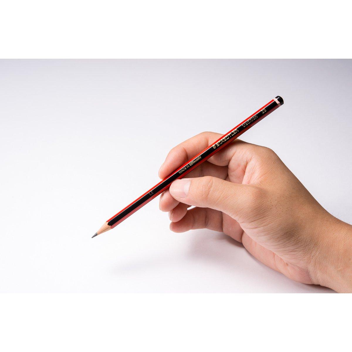 Staedtler 110-2B Lot de 12 Crayons graphite 2B