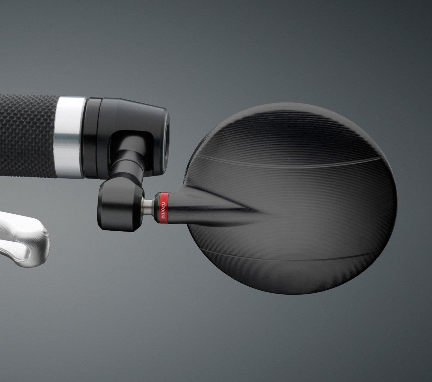 Rizoma Spy R 80 Mirror, Black, With Mounting adapter (BS285B/LP200B)