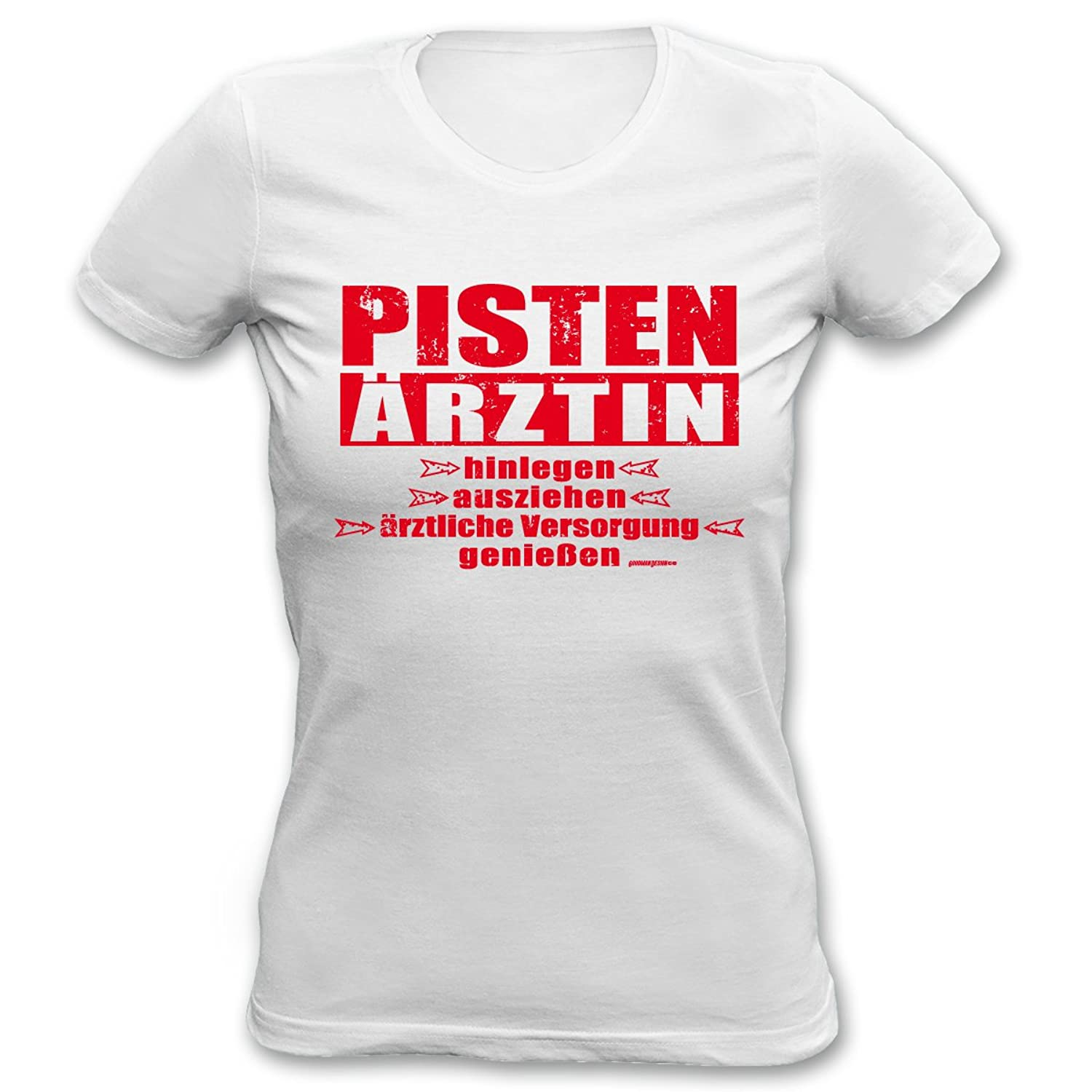 Cooles Winter Damen Shirt / Apres Ski Outfit : Pisten Ärztin -- Goodman Design -- Wintermotiv T-Shirt