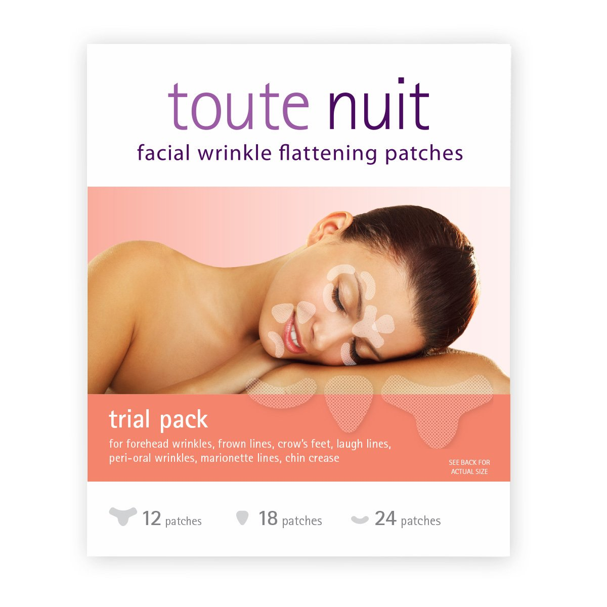 Toute Nuit Facial Wrinkle Flattening Patches – TRIAL PACK 3 Shapes (Anti-Wrinkle Patches/Face Tape)