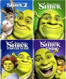 Shrek 1/2/3/4 The Whole Story 4 Movie Collection Blu Ray Forever After Animated Cartoon