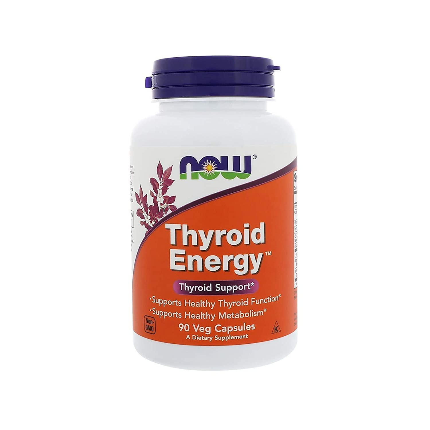 NOW Supplements, Thyroid Energy™, Iodine and Tyrosine plus Selenium, Zinc  and Copper, 90 Veg Capsules
