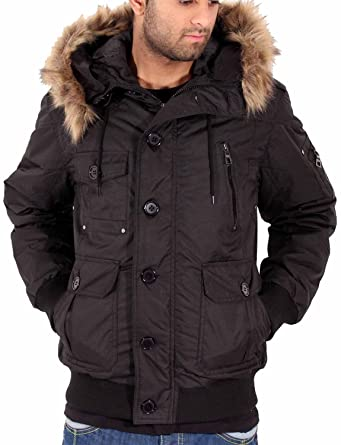 Big Dawg Special Mens Boys Short Parka Puffa Padded Removable Faux ...