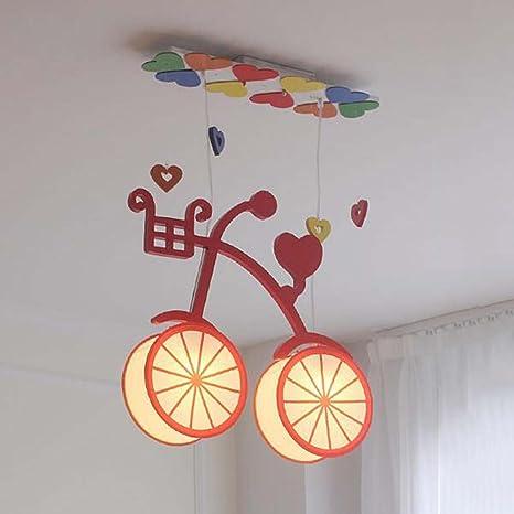 Focos de soffitto- Niños Retro bicicleta europeos simples y ...