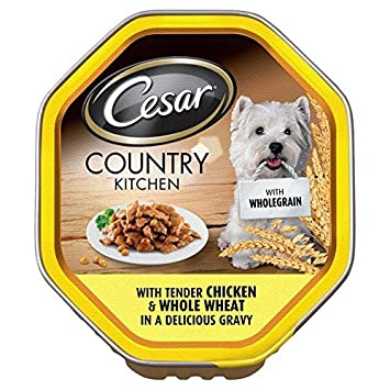 Cesar País Completo grano de pollo en salsa 150 g (Paquete de 4)