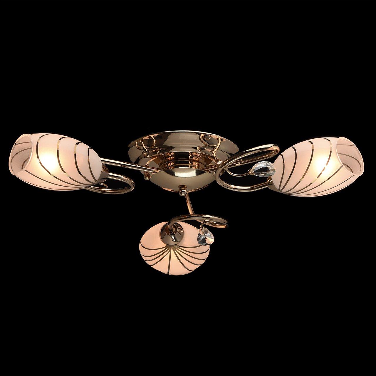 nichelata non include 5x60W E14 Lampada da soffitto nera 5/luci con paralume in vetro modello in cristallo trasparente moderna
