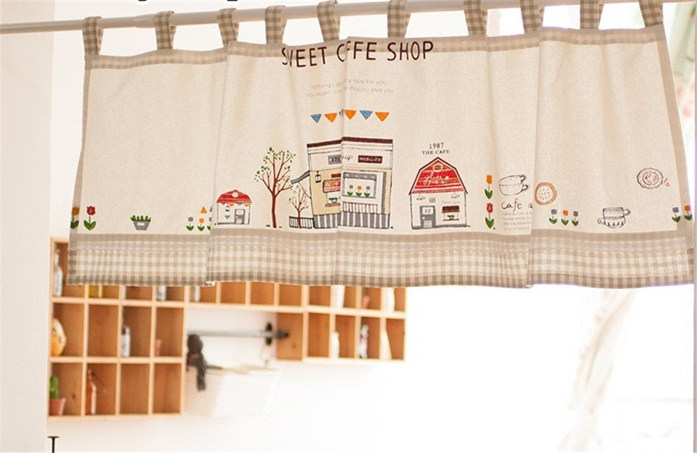 Azerlee Valance Curtain Extra Wide And Short Window Treatment For Kitchen  Living Dining Room Bathroom Kids ...