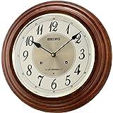 Seiko Wall Clock (31.4 cm x 31.4 cm x 7.2 cm, Brown, QXM283BN)