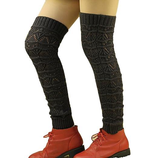 871d6d5f6 Amazon.com  Wensltd Women Knitted Cable Knit Leg Warmers Socks (Gray ...