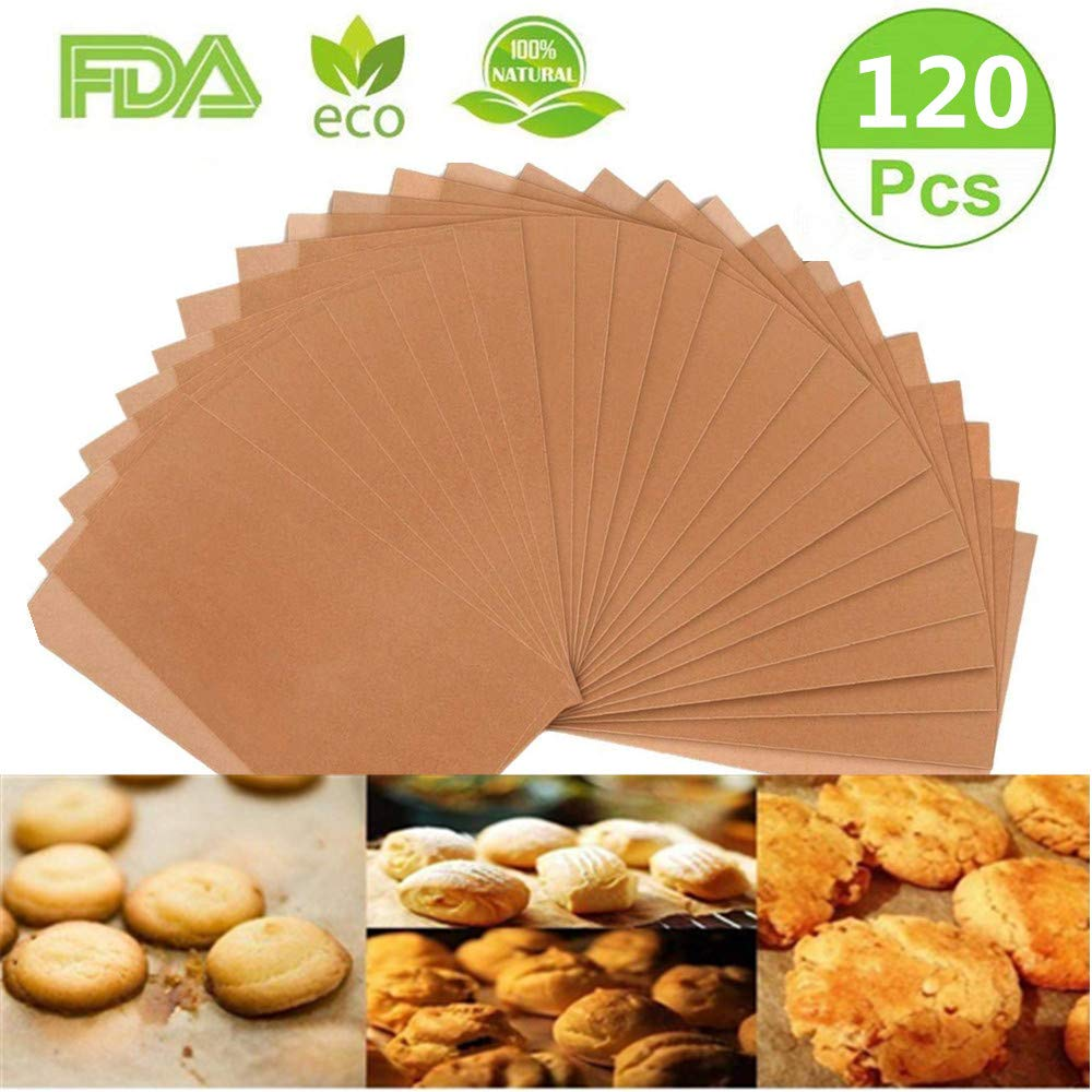 Parchment Paper Cookie Baking Sheets, 120 PCS Baking Parchment Paper Precut Cooking paper for baking Non-Stick & Unbleached,No Curl or Burn, Non-Toxic for Cook, Grill, Steam, Pans (12x16 Inch) Xinhua xinhua018