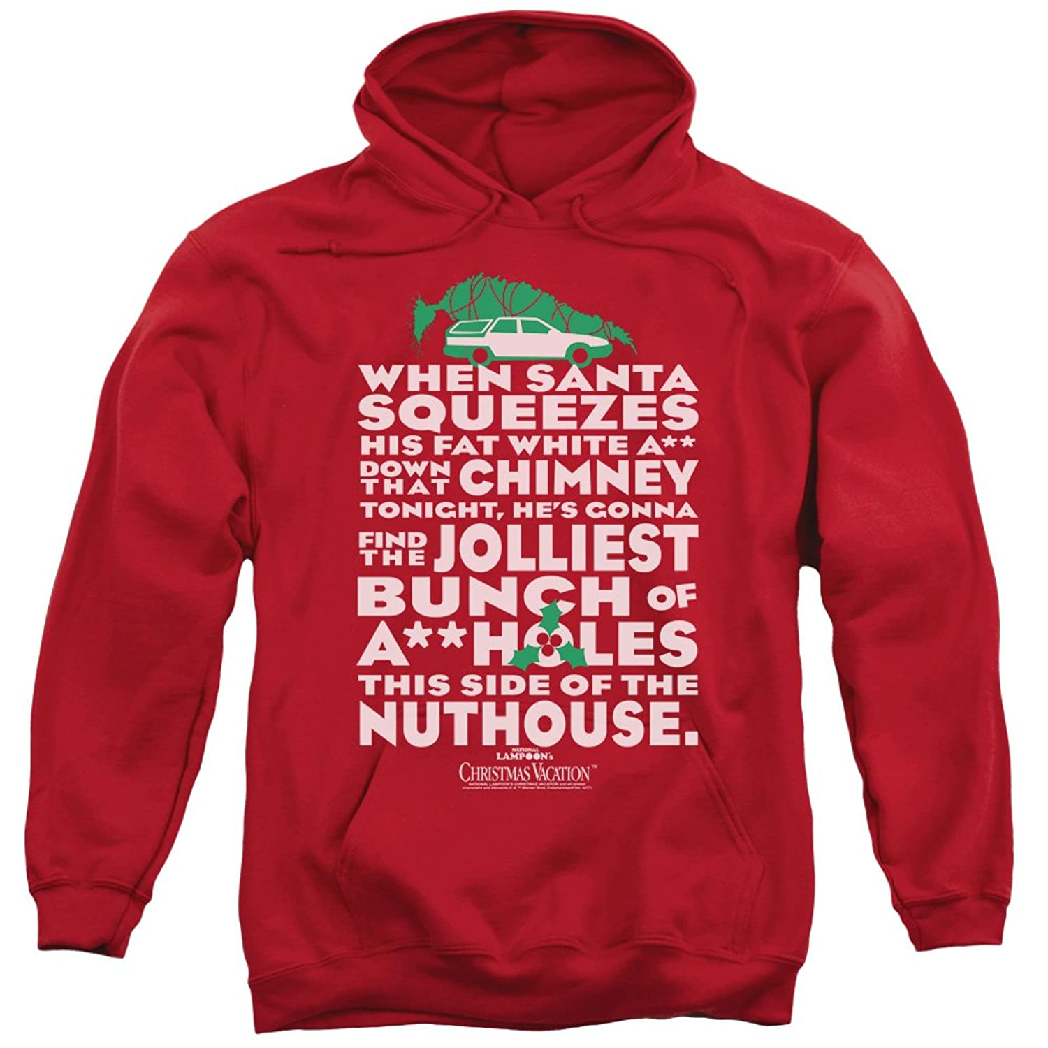 amazoncom christmas vacation jolliest bunch unisex adult pull over hoodie for men and women clothing