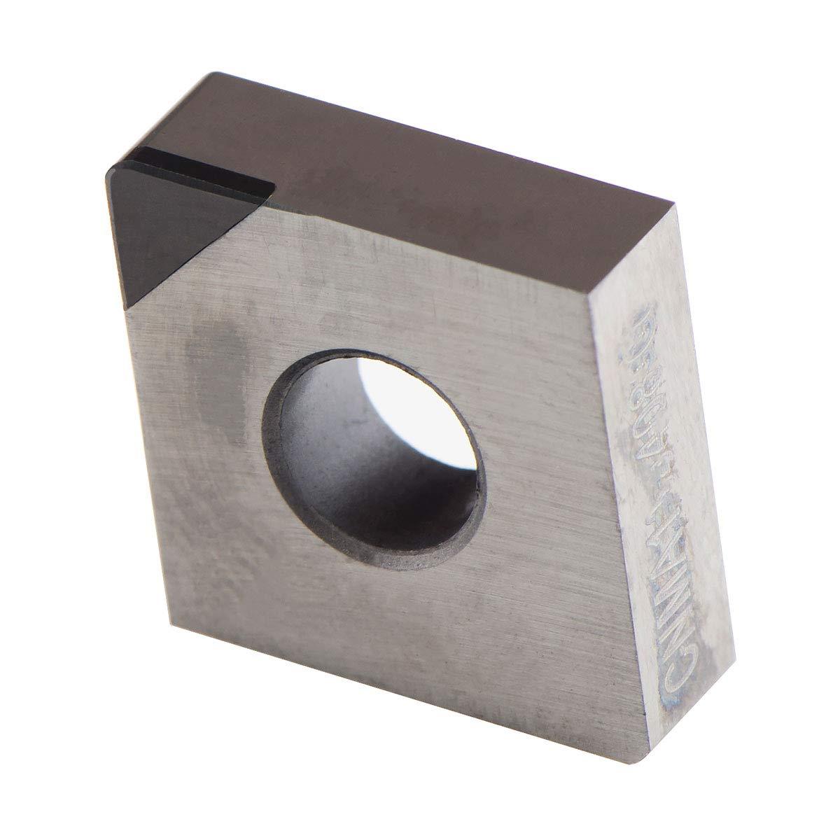 MAXTOOL 2PCs CNMA432-G82P2 PCBN Tipped Inserts Polycrystalline Cubic Boron Nitride Grade 8200 CNMA120408