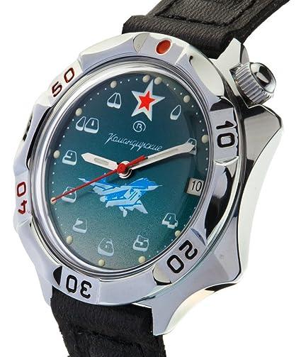 Vostok KOMANDIRSKIE 531124/2414 a Militar Fuerzas Especiales aviador Ruso reloj verde: Russian Watchs: Amazon.es: Relojes