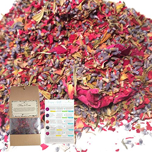 All Natural Petal Confetti Potpourri-Rose Petal, Lavender, Peony Dried Flowers for Bath, Soap Making, Food Coloring, Flower Petals for Bath Bomb