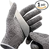 Cut Resistant Gloves - High Performance Level 5 Protection,Knife Cut Proof Gloves (1 Pair)(Gray, X-Large)