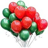バルーンセット 風船 クリスマスバルーン 100個 10インチ バルーン 赤 緑 クリスマス パーティー飾り