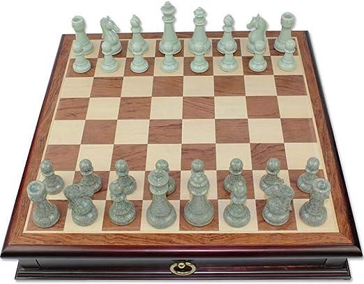 SKLLA Juego de ajedrez de cerámica Ajedrez Grande de Madera Maciza ...