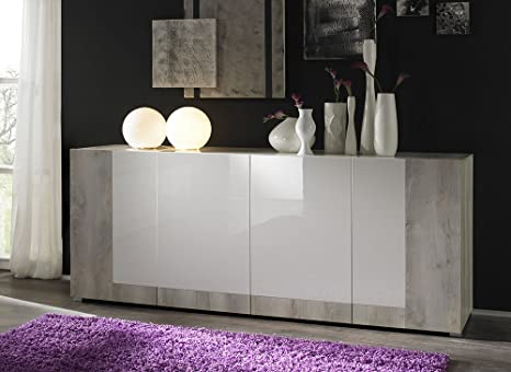 Credenza Moderna Di Design : Zenzero shop credenza moderna madia di design ante pino